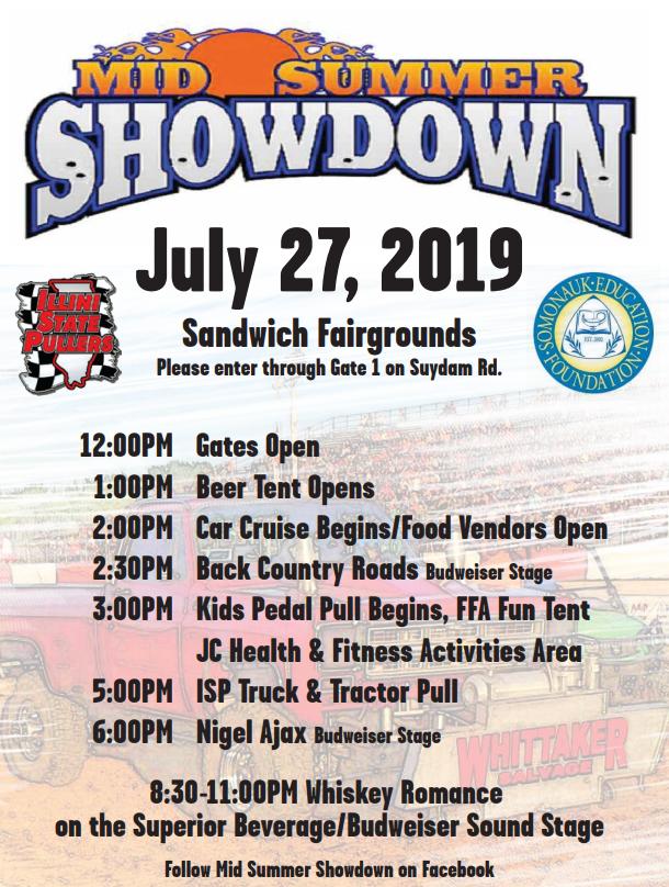 Mid-Summer Showdown - Sandwich Fair